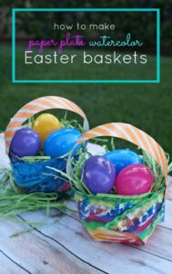 Easter-crafts-for-kids-Make-your-own-paper-plate-watercolor-Easter-baskets
